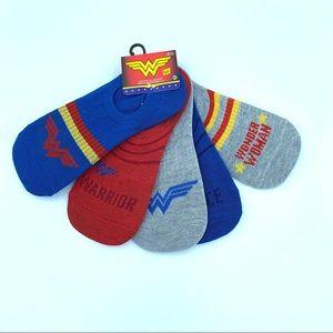New DC Comics Wonder Woman Warrior No-Shows Socks